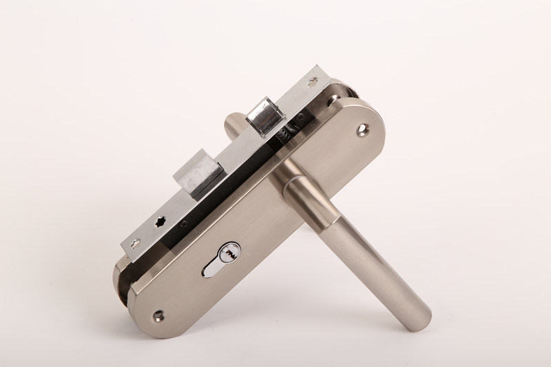 Aluminum Handle Iron Plate Door Lock for Hotel Lock Furniture Hardware pictures & photos