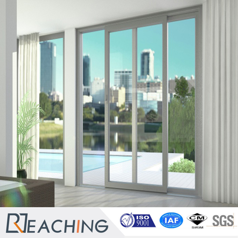 China Latest Design Upvc Sliding Door With Steel Mosquito Net For