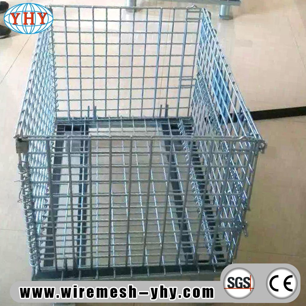 China Warehouse Metal Folding Storage Collapsible Stacking Wire Mesh ...