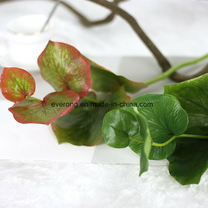china real touch butterfly leaf fork artificial greenery faux plants
