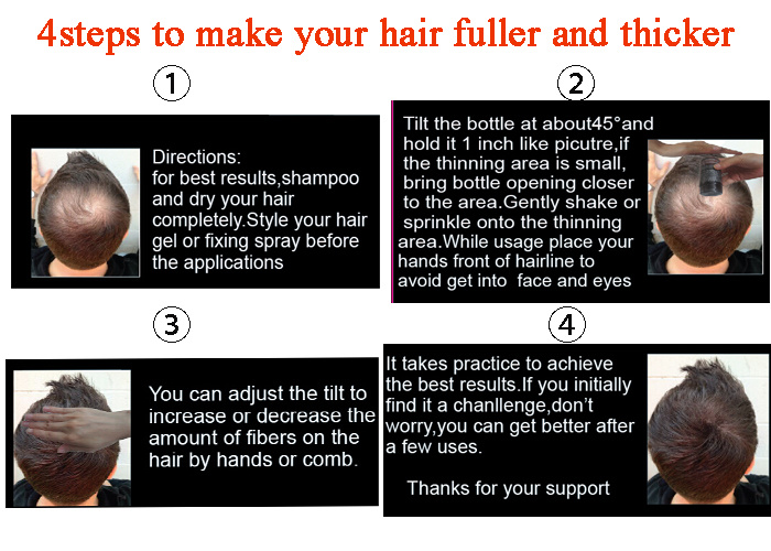 Top Quality Hair Restoration Regrowth Hair Products Instant Hair Fiber