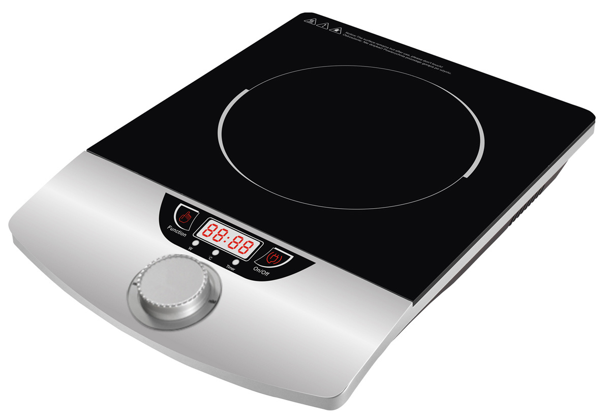 China Knob Control Press Button Induction Cooktop 4 Led Display Simple Heater Circuit Hot Plate Cooker Electric Am20v82 Stove