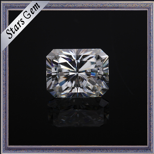 Clear White Rectangle Princess Diamond Cut Moissanite for Jewelry