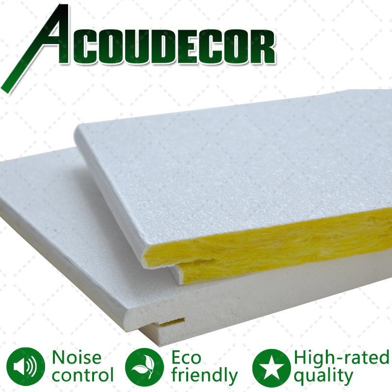 China White Acoustic Fiberglass Wool Ceiling Tile Photos Pictures