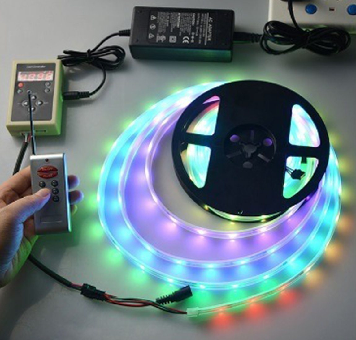 China Rf Led Rgb Digital Smart Magic Controller For Ic Strip With Light