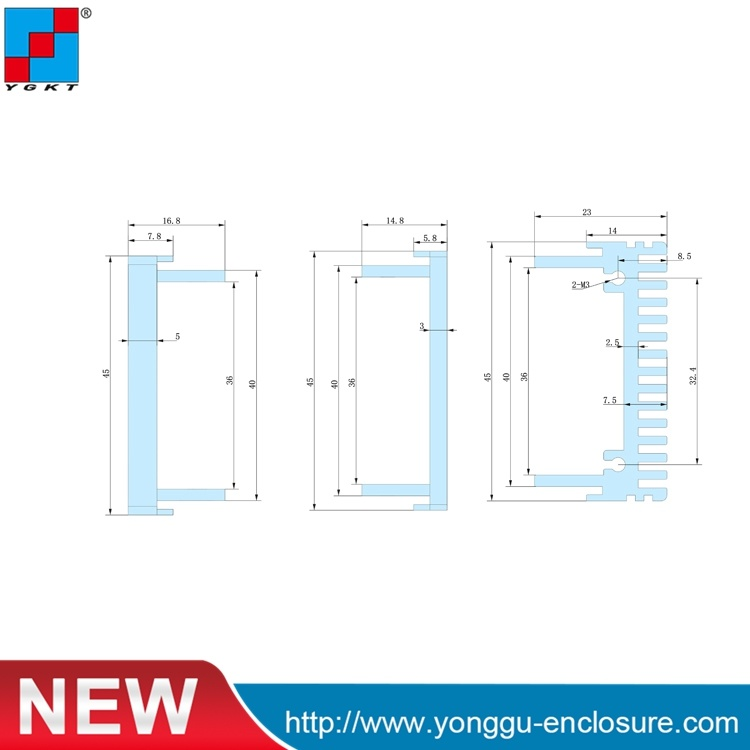 China 82 44 5 250 Mm Wxh L Aluminum Enclosure For Useful Industry 1u Rack Case Dimensions Custom Rack Mount Enclosures Photos Pictures Made In China Com