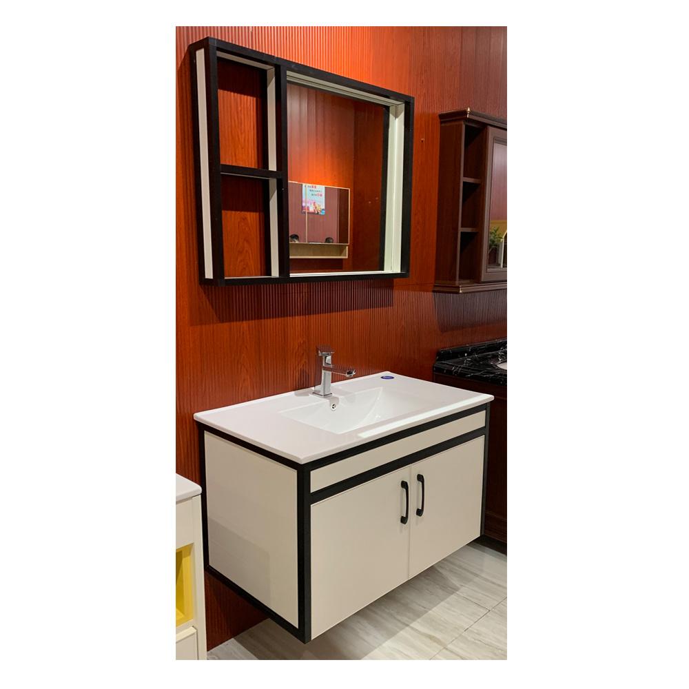 China Black And White Minimalist Bathroom Cabinet China Bathroom Furniture Bathroom Cabinet