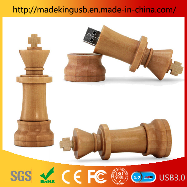 Wooden International Chess USB Flash Drive/USB Pen Drive pictures & photos
