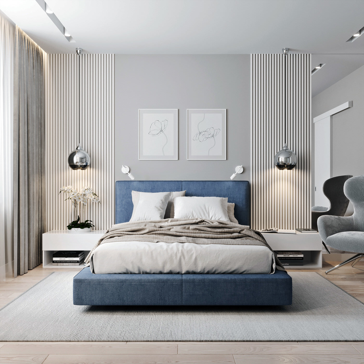 [Hot Item] Modern Luxury 9 Star Hotel Bedroom Furniture Apartment Furniture