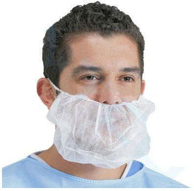 Food Industry Disposable PP Beard Cover with Double Elastic/Disposable Beard Mask Process pictures & photos