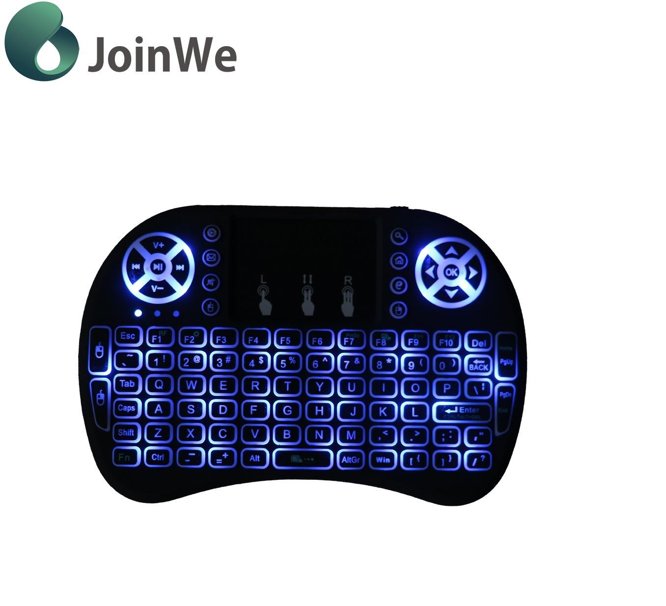 ebf4874c932 China 3 Colors I8 Mini Wireless Keyboard Backlit 2.4G Wireless ...