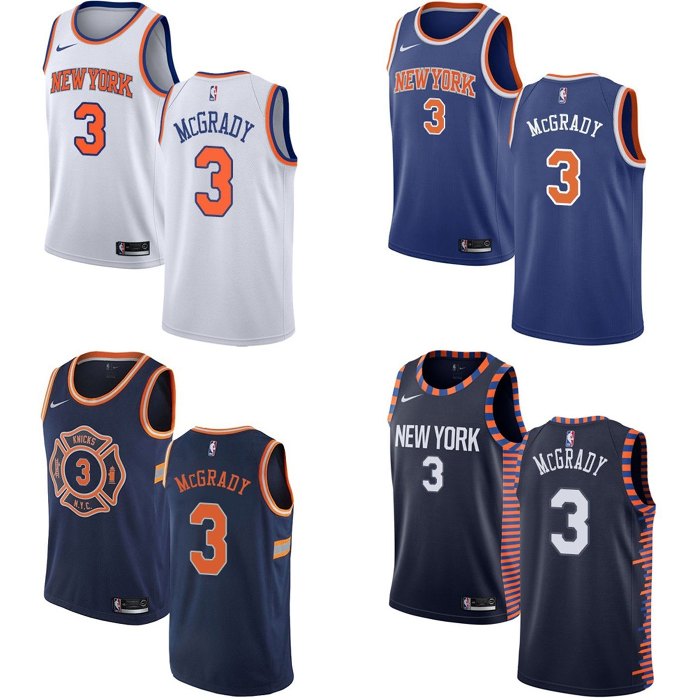 reputable site ad020 cb928 China 2019 Wholesale Tracy Mcgrady Knicks Home Away Third ...