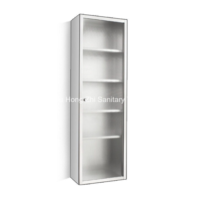 Stainless Steel High Kitchen Storage Uint Cabinet with Five Inside Shelf