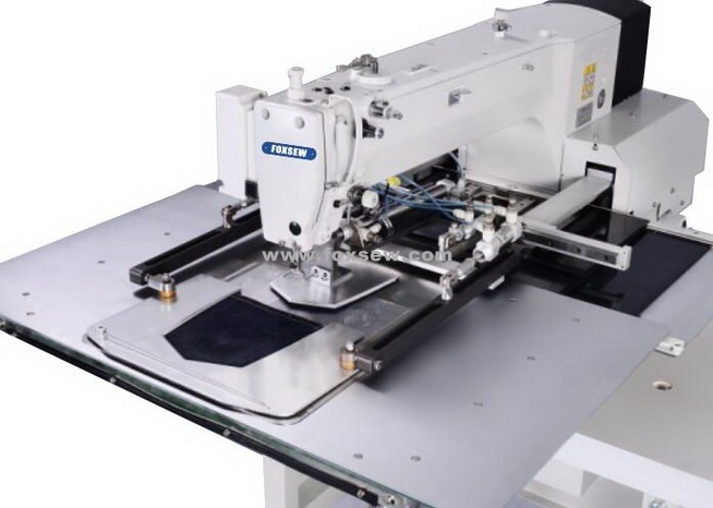 China SemiAutomatic Pocket Setter Pattern Sewing Machine Photos Mesmerizing Automated Sewing Machine Co Ltd