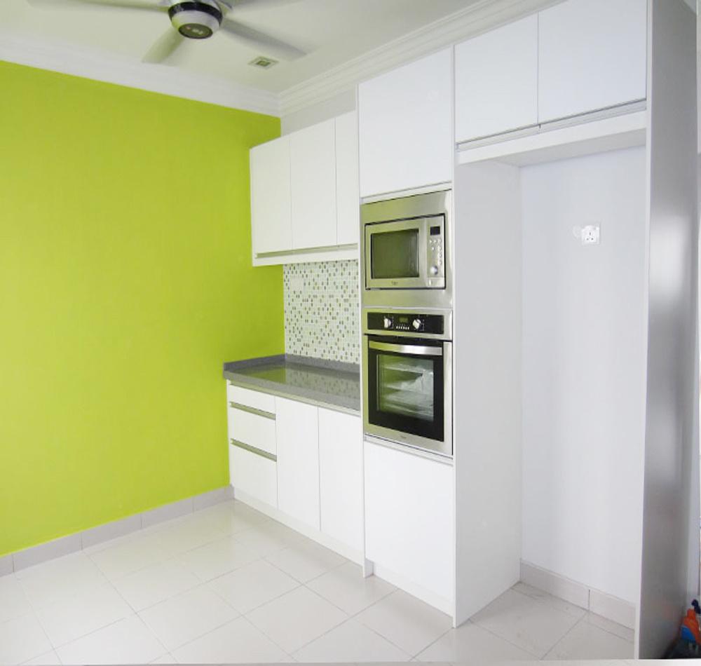 China White Lacquer Finish High Gloss Anti-Scratch Kitchen Cabinets ...