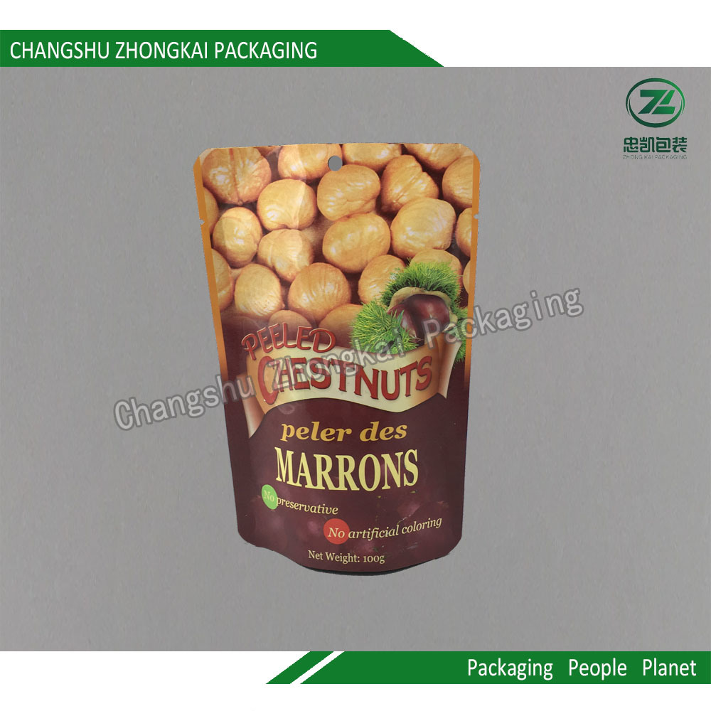 Laminated Stand up Pouch for Snack with Zipper