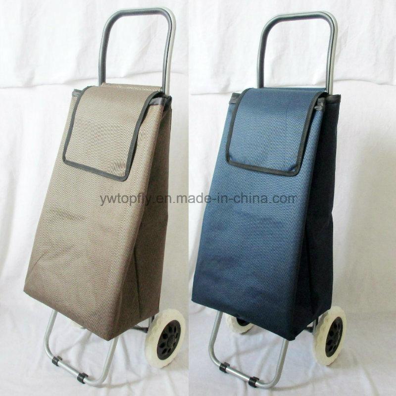 14608b40c8 China 2 Wheels Large Foldable Flat Hand Luggage Bag Shopping Trolley -  China Shopping Cart Trolley
