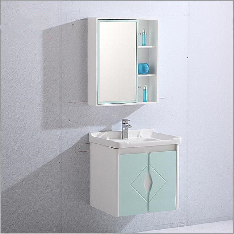 Hot Item Pvc Bathroom Wall Cabinet With Mirror Mirror Cabinet