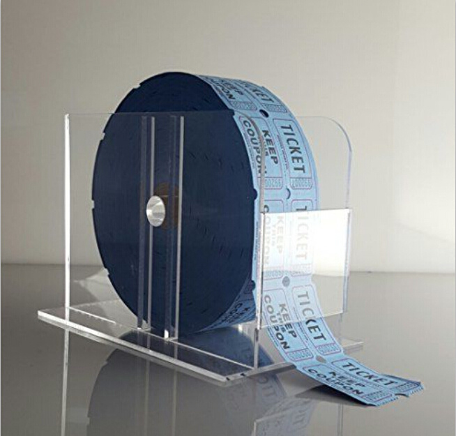 Acrylic Raffle Ticket Dispenser for Single or Double Roll Tickets
