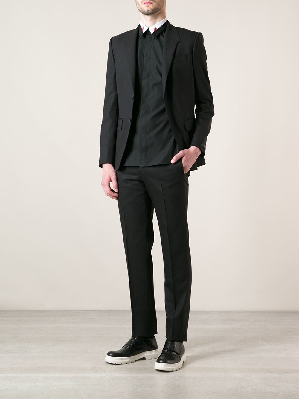 China Italian Black Dinner Casual Suit