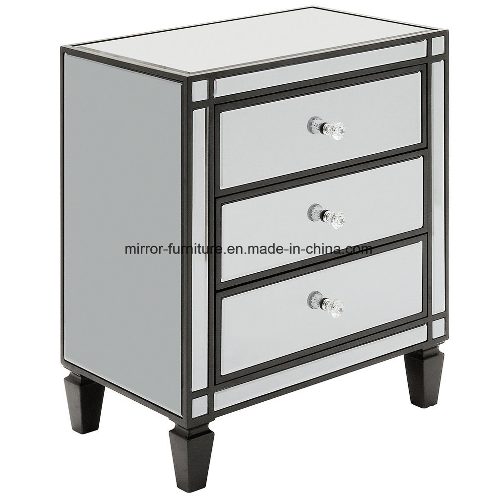 China Top Quality Mirrored Furniture For Restaurant Black Nightstand Design Ideas