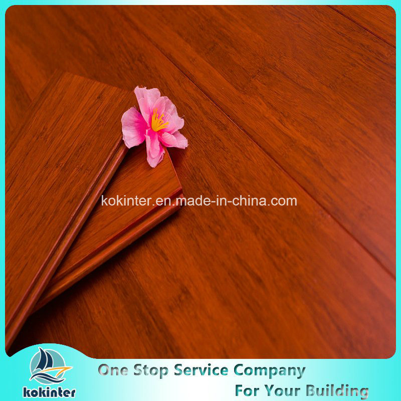 Chinese Super Quality Teak Color Indoor Usage Strand Woven Bamboo Flooring With China