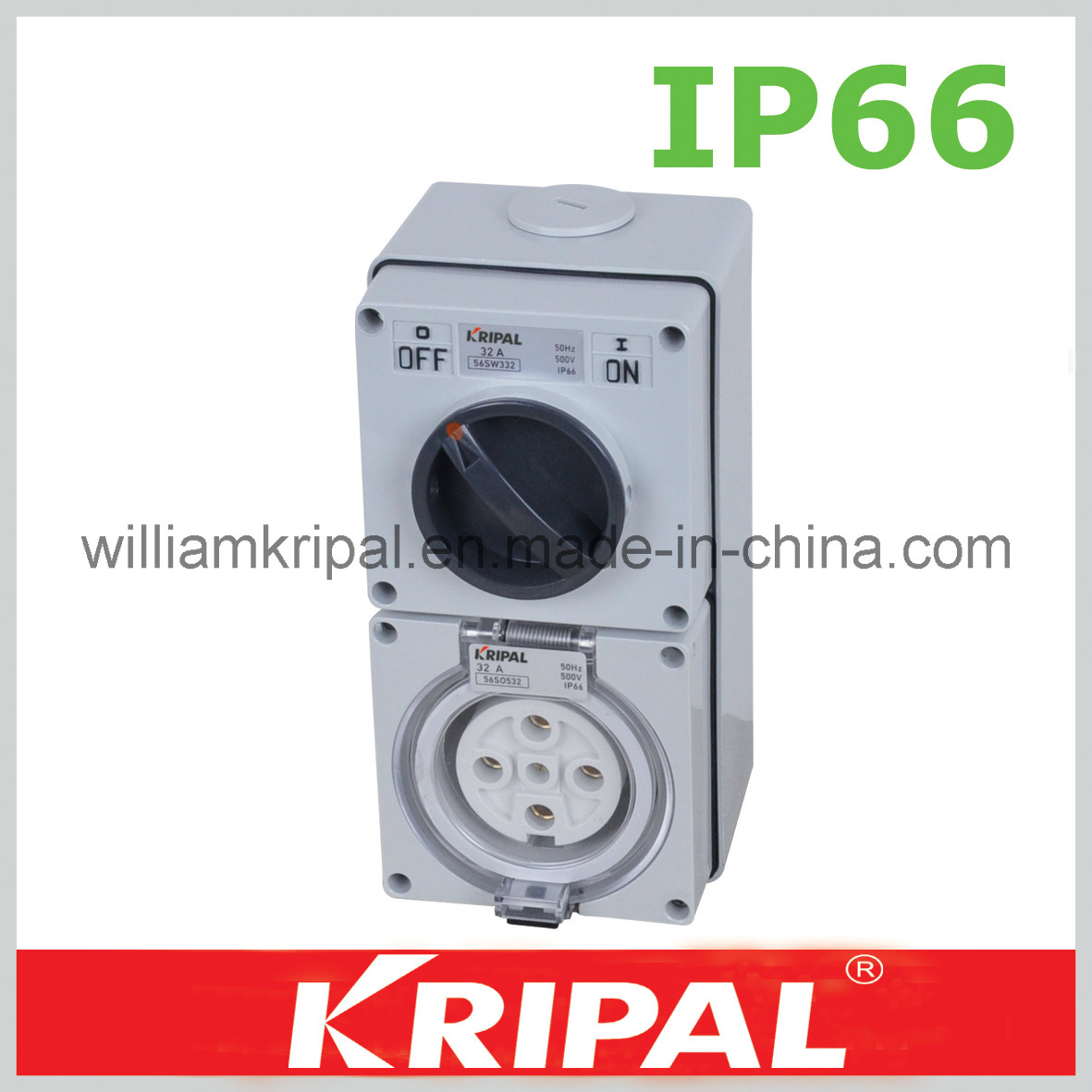 China Ip66 5pin 32a Weather Protected Switch Socket