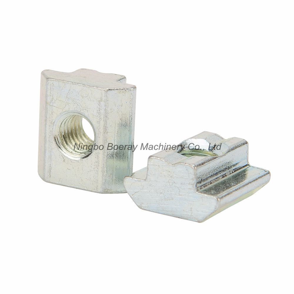 Nuts with 20-piece T-slot M8 nut with galvanized carbon steel sliding T-slot for aluminum profile fittings