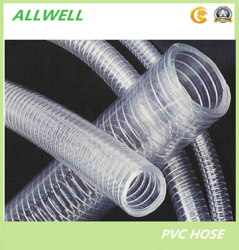 China PVC Industrial Clear Spring Spiral Steel Wire Water Hose 2 ...