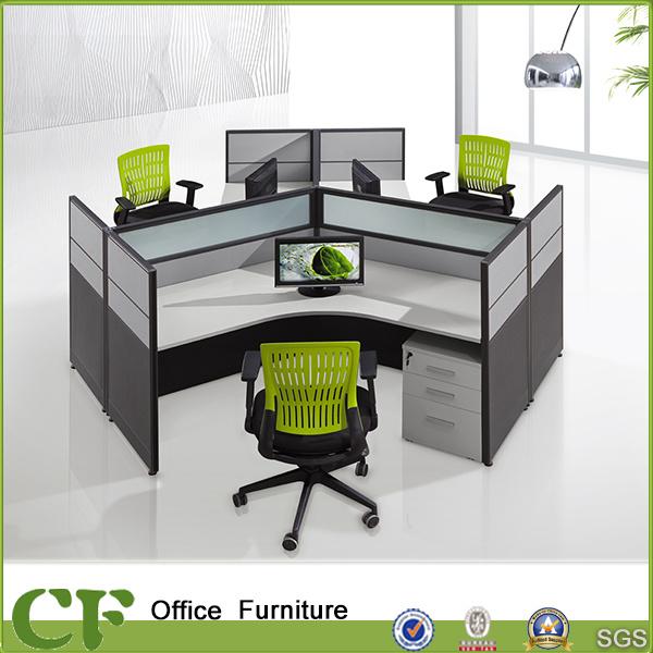 round office desks. Round 3 People Office Desk For Staff CF-W307 Desks