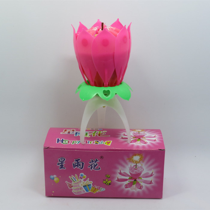 Non Rotating Lotus Music Birthday Candles