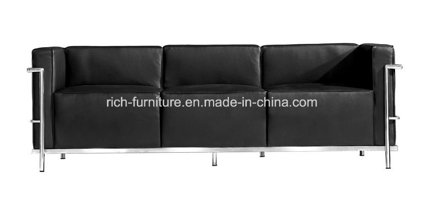 Clic Leather Le Corbusier Lc3 Sofa