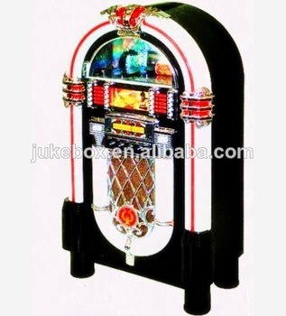[Hot Item] Standing Large Size (80W Speaker) Jukebox 7 Colors LED  Light+CD+USB/SD+ iPod