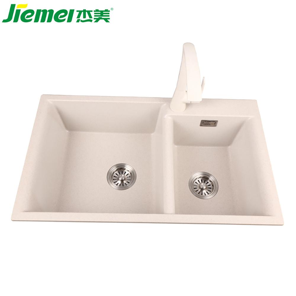 China Jm701 Stainless German Craft Granite Double Bowl