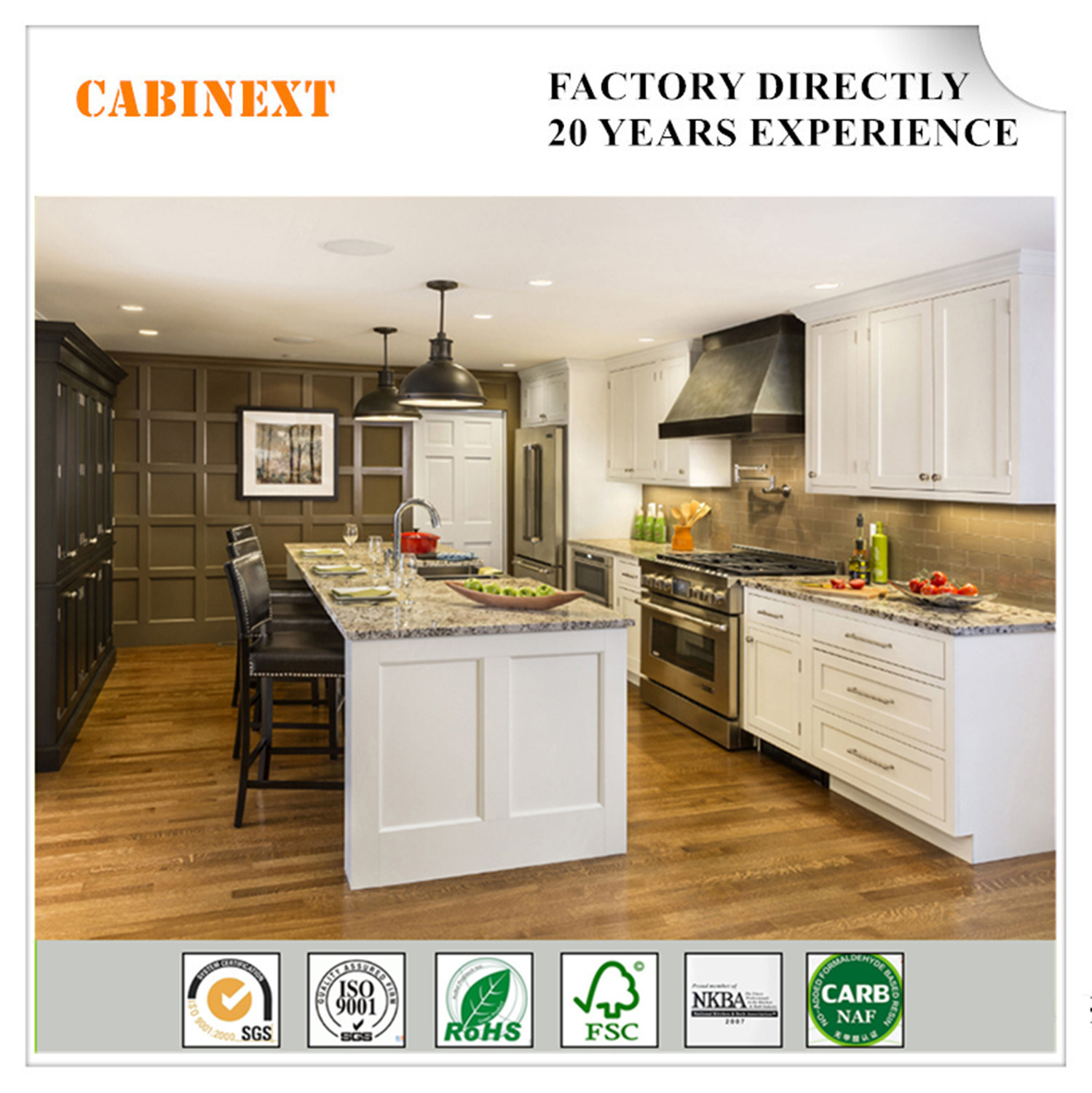 China Solid Wood Kitchen Cabinet With Doors And Shelves Soft