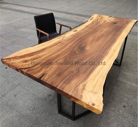 China Monkey Pod Wooden Slab Table