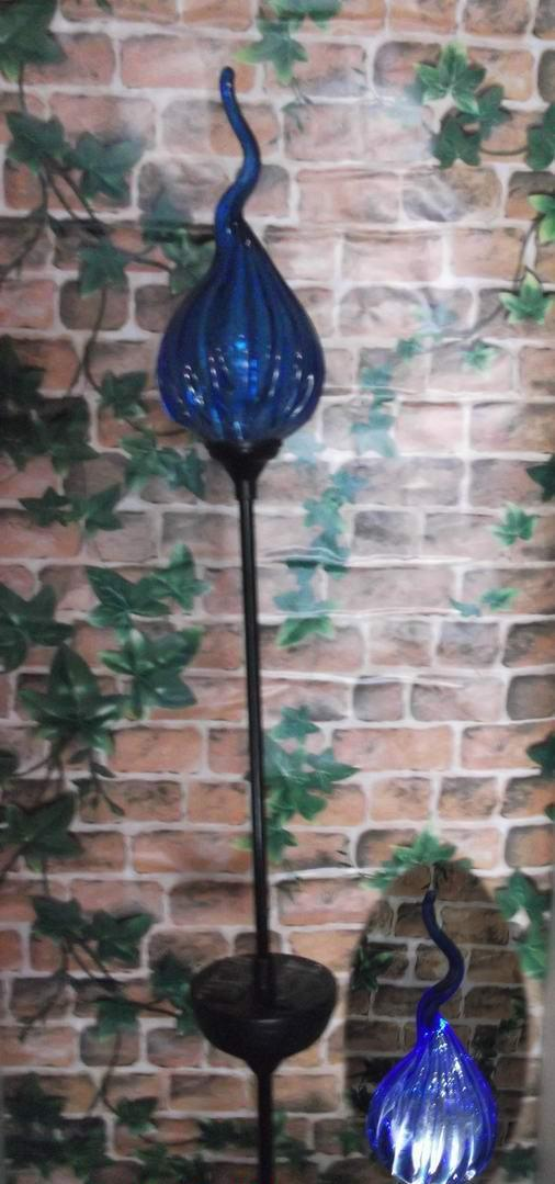 Attirant China Solar Munaro Hand Blown Glass Iron Stake/Garden Decorative Solar  Lights/Solar Garden Lights   China Hand Blown Glass Garden Art, Garden Art
