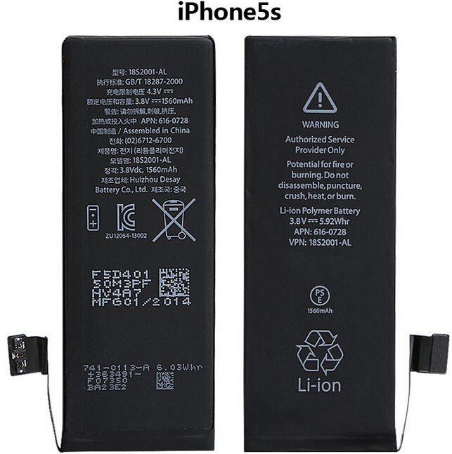 Cell Phone Original Battery for iPhone 5s