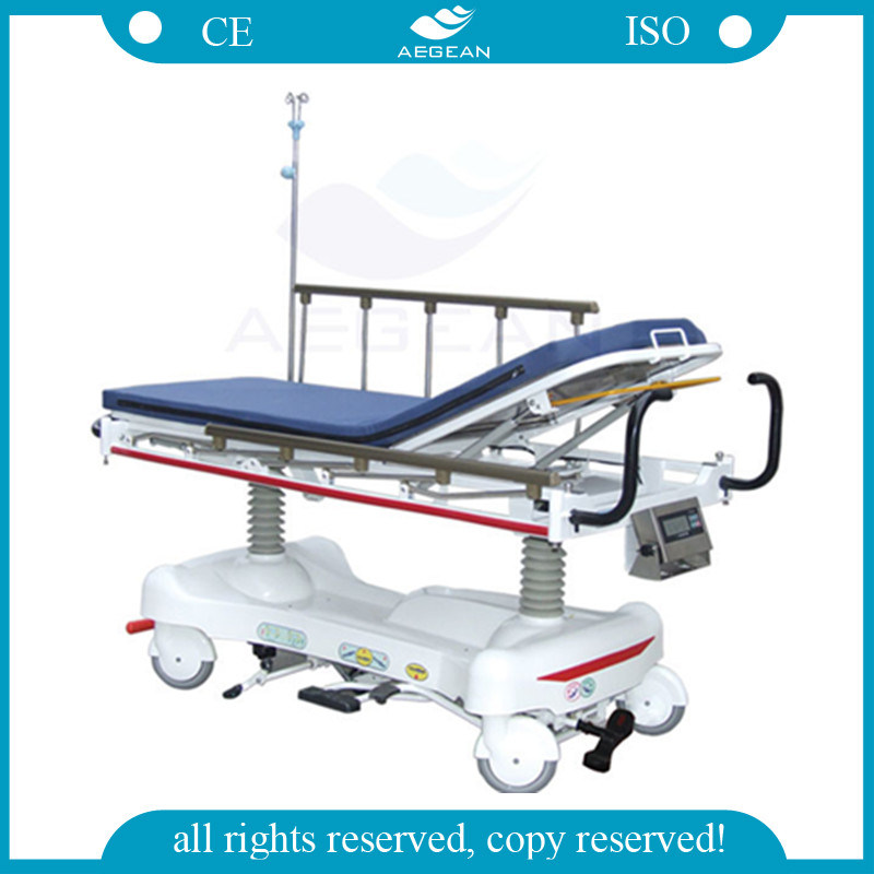 Luxurious Hydraulic with Weight System Ambulance Trolley Stretcher (AG-HS006)