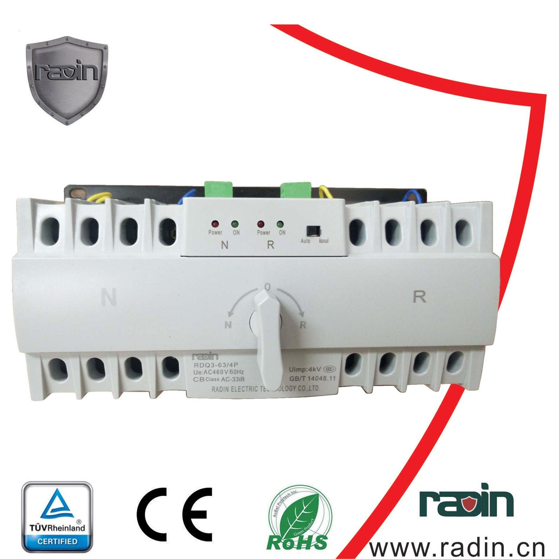 China 3 Pole/4 Pole 6A-63A Automatic Change Over Switch Atse (ATS ...