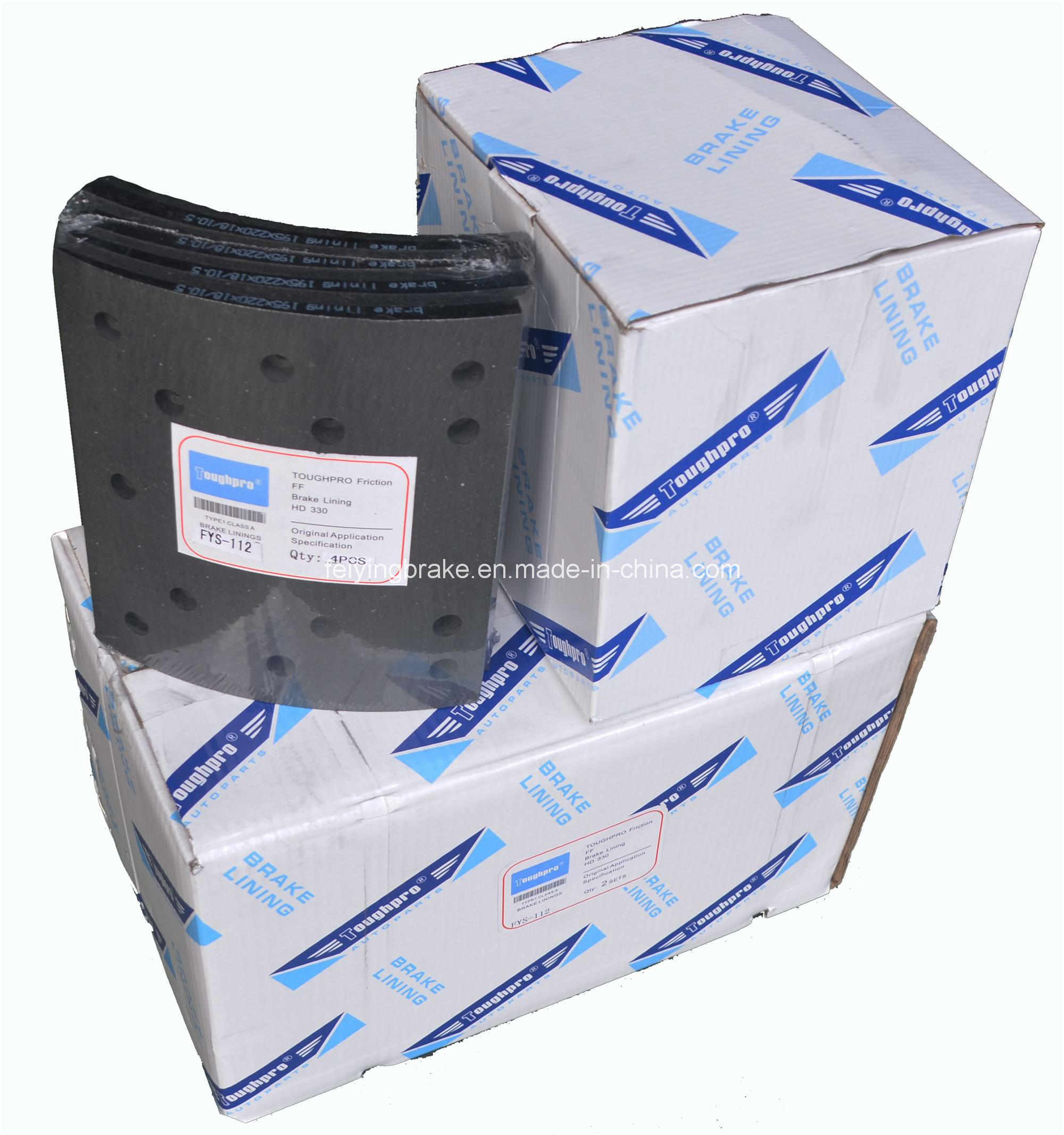 Semi-Metallic Brake Lining HOWO -A7 with Asbetos or Asbetos Free