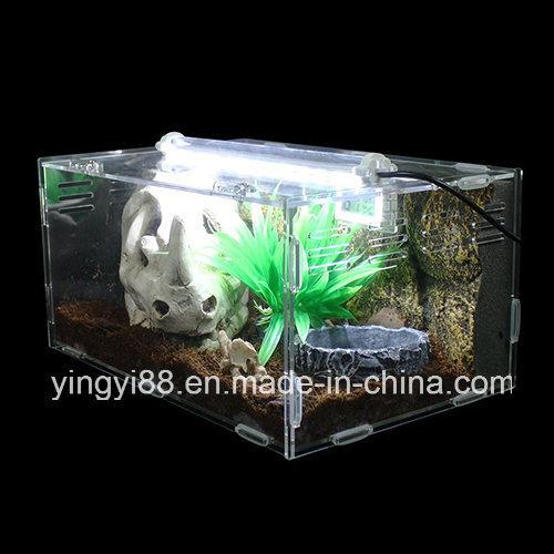 China Custom Acrylic Reptile Terrarium Habitat Ideal For Small