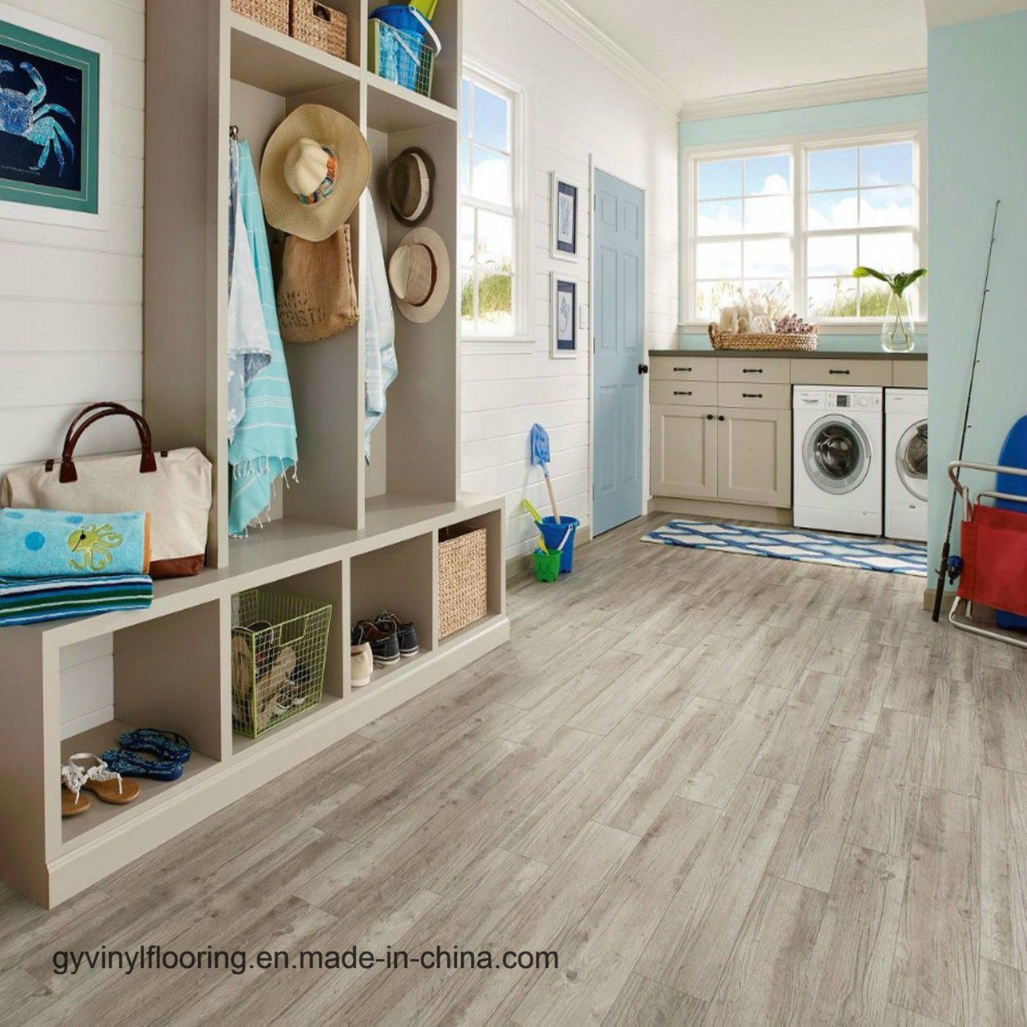 China Eco Friendly Indoor Wood Pattern Plastic Vinyl Flooring
