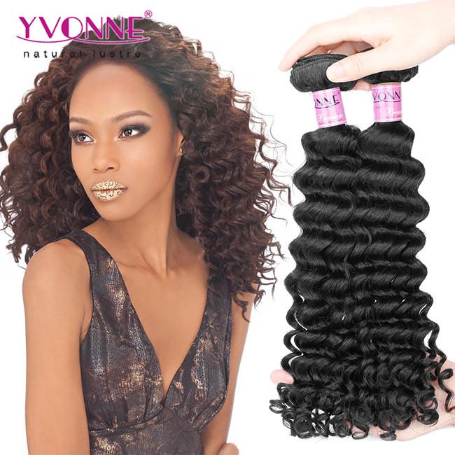 China Deep Wave Peruvian Virgin Remy Hair Weave China Hair Weave