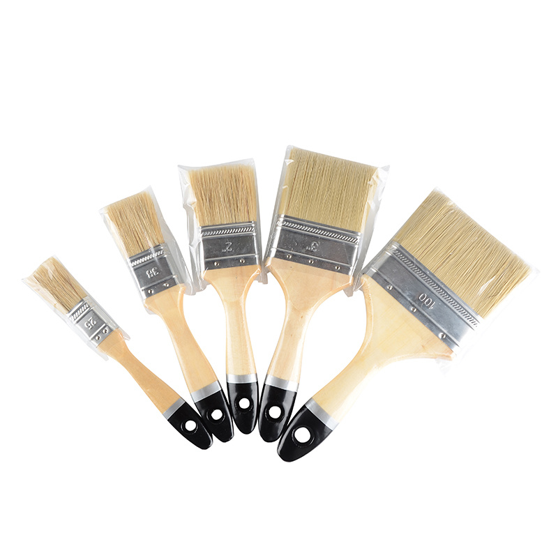 High Quality Wooden Handle and Black End Bristles Paint Brush