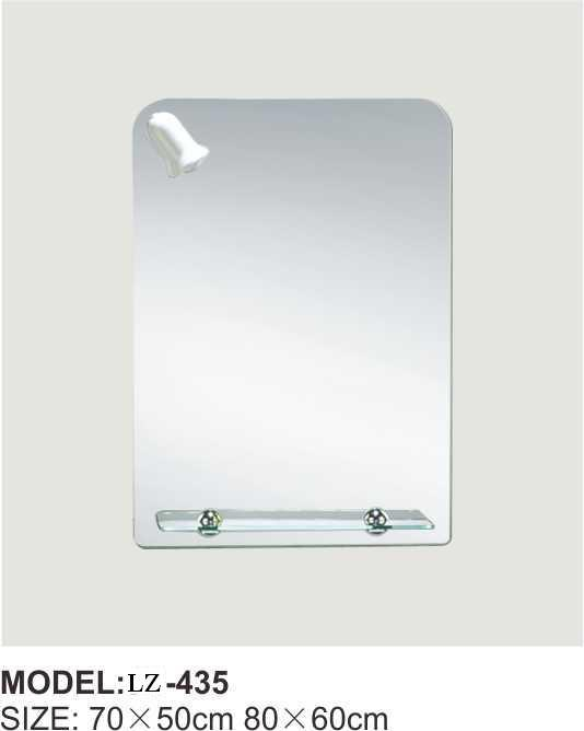China Different Shapes Bathroom Mirror With Shelf And Light Lz