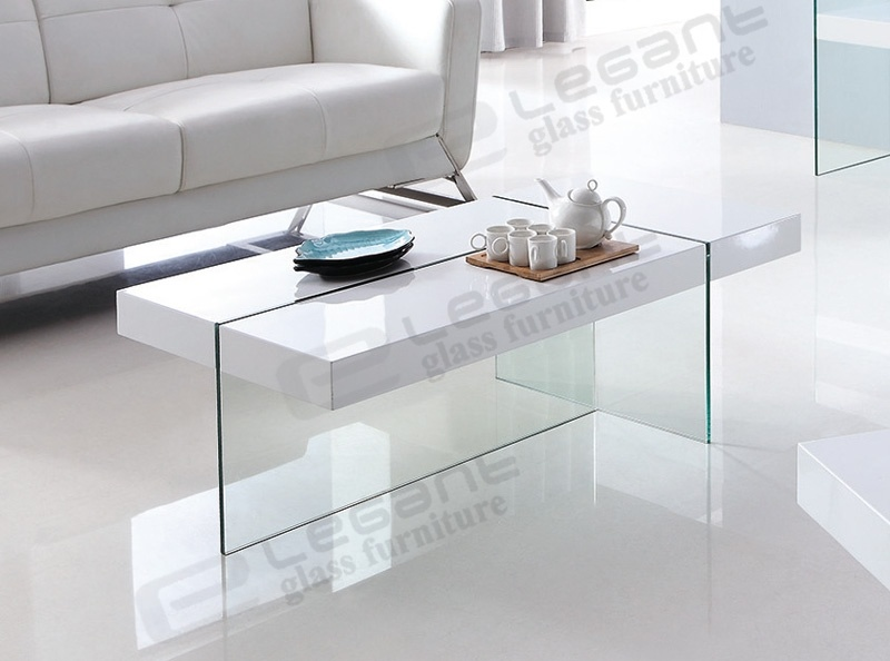 China Fancy White MDF Center Table with Glass Support ...