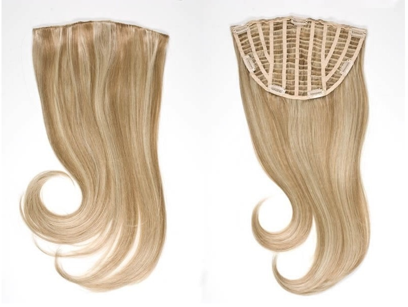 China Hairpiece Half Wig With Clips Virgin Hair Extension Av Hw00