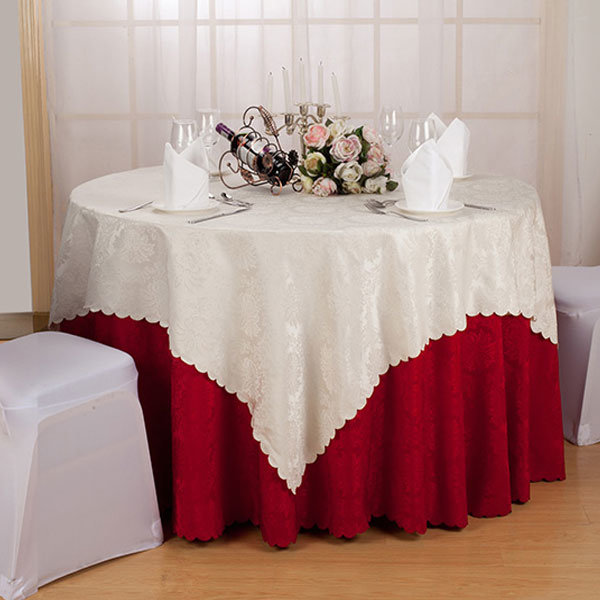 Hotel Tablecloth 100% Cotton Colorful Silver Embroidery (DPF10783)