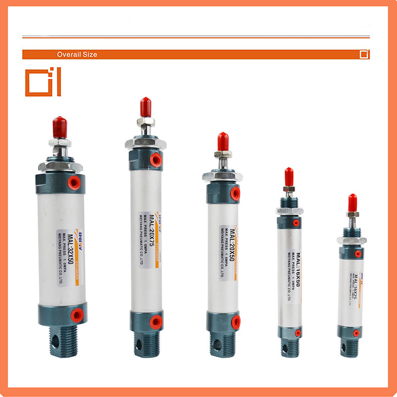 Mal Series Pneumatic Compressed Mini Air Cylinders